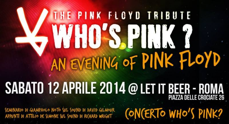 An evening of Pink Floyd 12 Aprile 2014